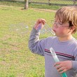 Blowing Bubbles — Stock Photo #1700124