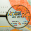 Stock Photo: Los Angeles Magnified