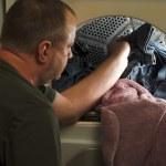 lavando roupa — Foto Stock