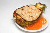Pineapple Shrimp Fried Rice — Stock Photo