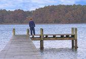 Boy on a Pier — Stock Photo