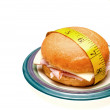 Stock Photo: Ham and Swiss Sandwich