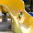 Boy on a Waterslide — Stock Photo #1710976
