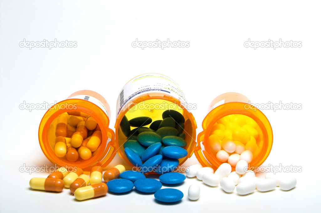 Prescription pills in a plastic medicine bottle. — Stock Photo #1711346