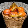 A table center piece of autumn gourds. — Stock Photo #1733246
