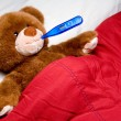 Sick Teddy Bear — Stock Photo