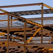Steel Building Frame Construction - Stock Photo
