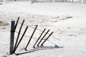 Beach Erosion Fence — Stock Photo