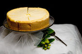 Lemon Custard Cake — Stock Photo