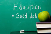 Education Equals Good Job — Stock Photo