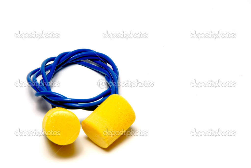 A set of ear plugs - personal protective equipment.  Stock Photo #1732270