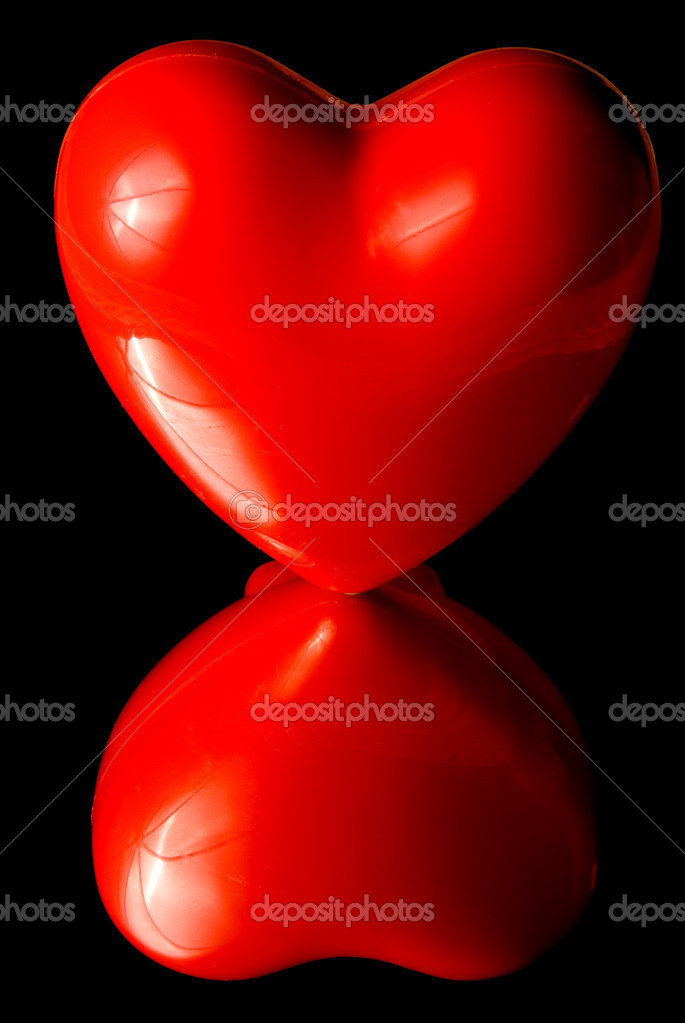 A big red heart ready for a beating. — Stock Photo #1734524