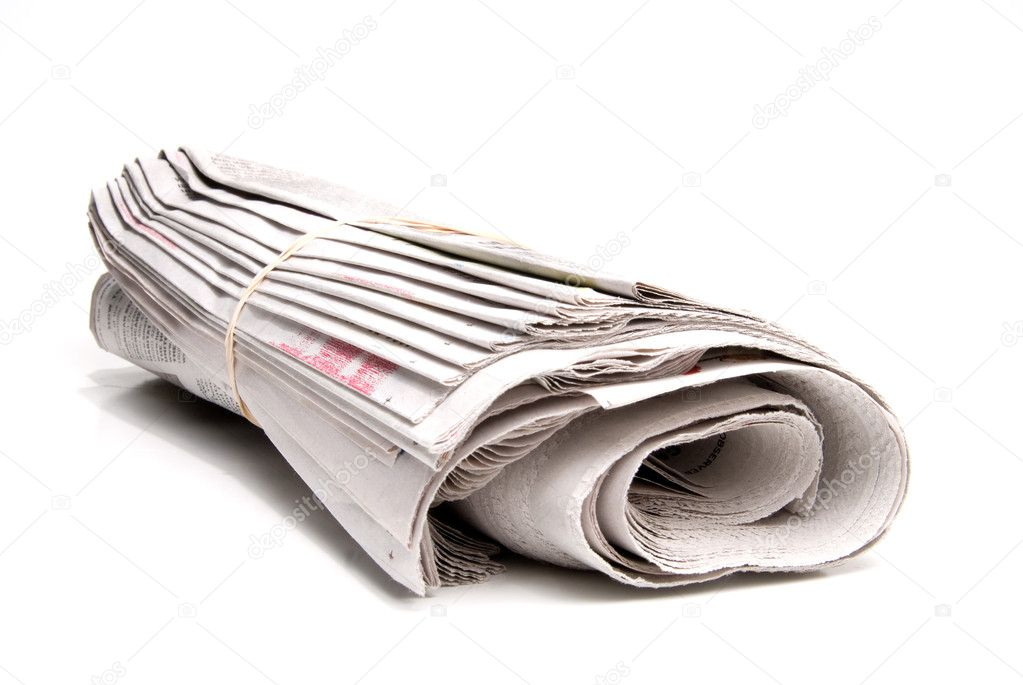 A daily newspaper ready for a loyal subscriber. — Stock Photo #1734526