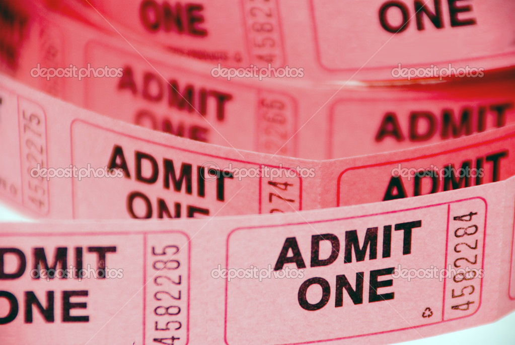 A small roll of retail admission tickets. — Stock Photo #1738623