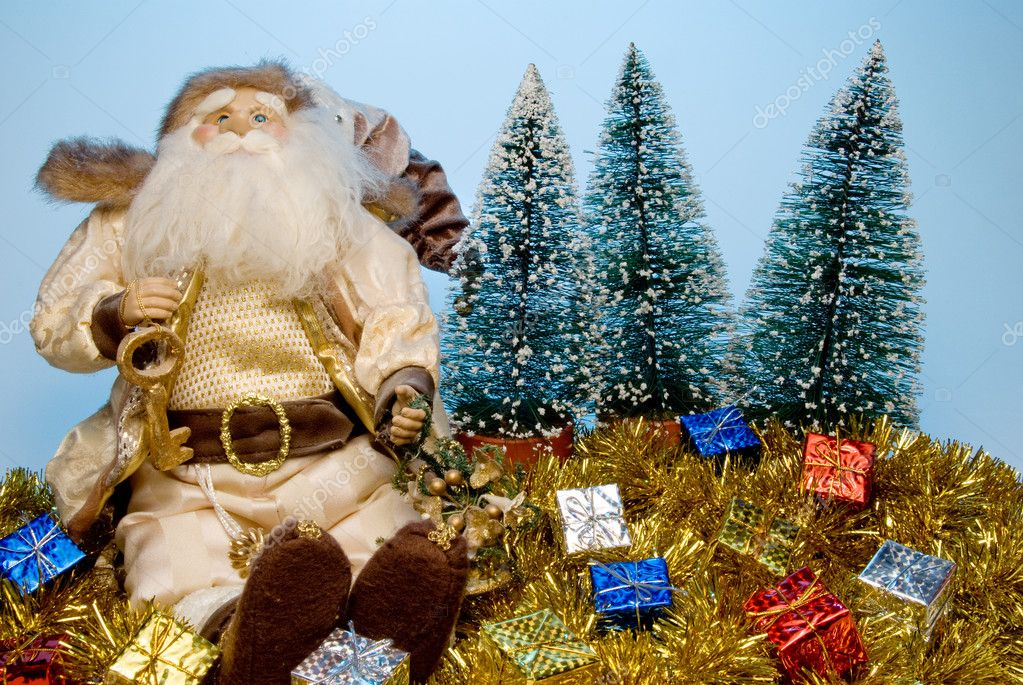 That joly old elf known better as Santa Claus.  Stock Photo #1741371