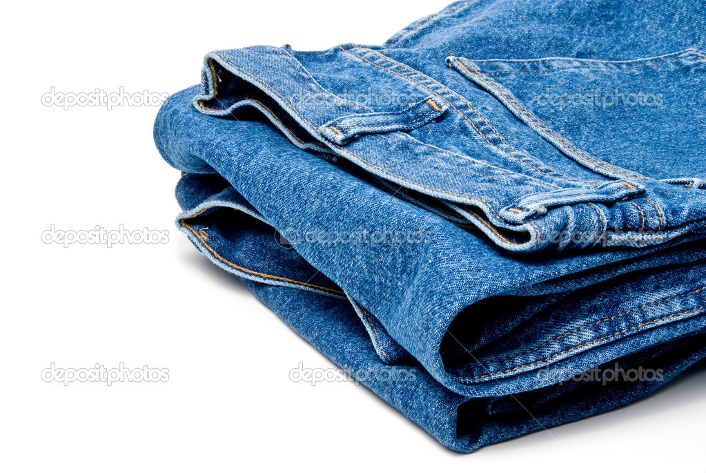 The always fashionable and stylish blue denim jeans. — Stock Photo #1915598
