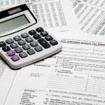 Tax Calculator — Stock Photo
