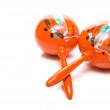 Handmade and hand painted antique Mexican maracas. — Stock Photo #2009222
