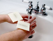 Hand Washing — Stock Photo