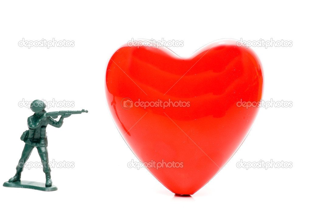 A big red heart ready for a beating. — Stock Photo #2009519