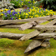 Stock Photo: Split Rail Fence
