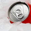 Drink Can in Ice — Stock Photo