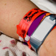 Hospital ID Bracelet - Stock Photo