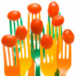 Grape Tomatoes on Forks - Stock Photo