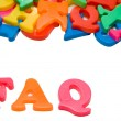 FAQ Letters - Stock Photo
