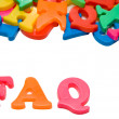 Stock Photo: FAQ Letters