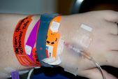 Nemocniční pacient iv — Stock fotografie
