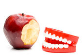 Apple and Teeth — Stock Photo
