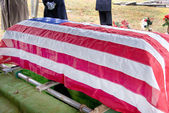 Flag Draped Coffin — Stock Photo