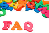 FAQ Letters — Stock Photo