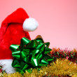 Christmas Hat and Bow — Stockfoto