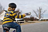 Newspaper Delivery — Stock Photo