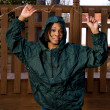 Stock Photo: Woman in Raincoat