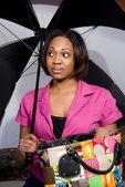 Vrouw met paraplu — Stockfoto