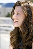 Beautiful Woman Laughing — Stock Photo