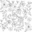 Royalty-Free Stock Vektorgrafik: Background with flowers