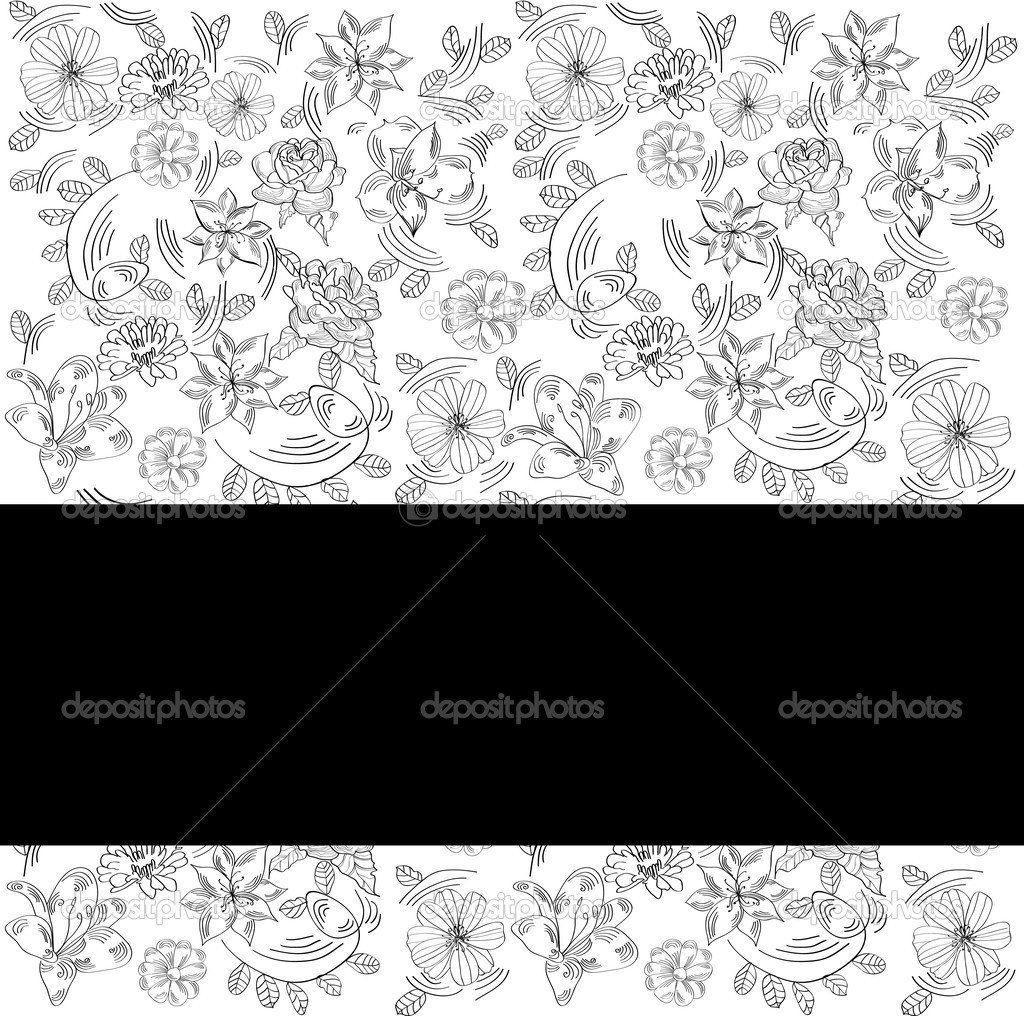 Invitation card with floral ornament — Stock Vector #1663975