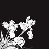 Tarjeta de felicitación de blanca y negro — Vector de stock