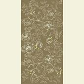 Vintage hintergrund mit blumen — Stockvektor