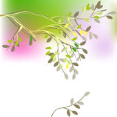 Background with spring branch — Stock Vector