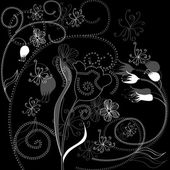 Background with floral ornament — Διανυσματικό Αρχείο