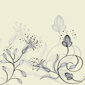 Background with floral ornament — Stock Vector