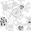 Royalty-Free Stock Vector Image: Black and white seamless pattern