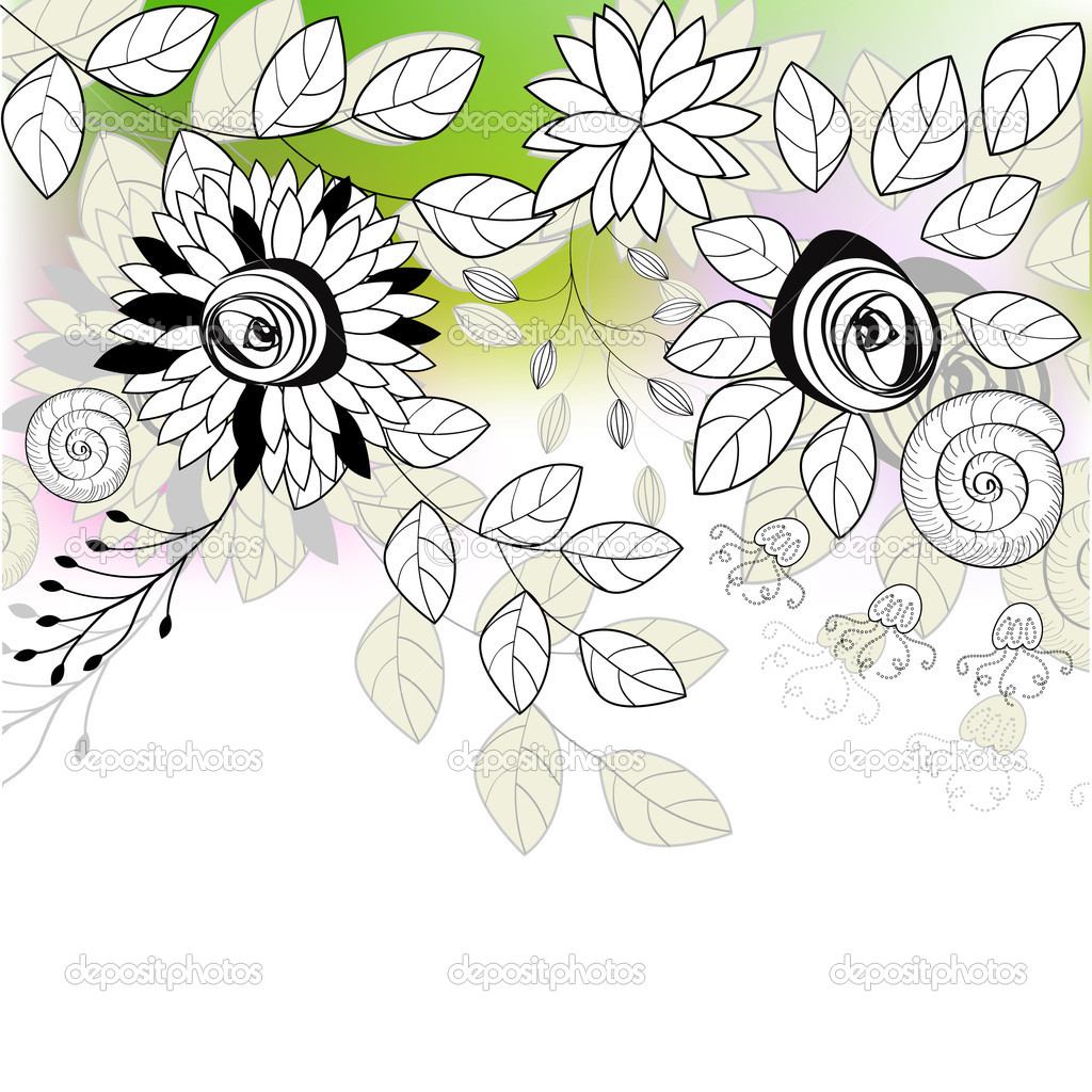 Original background with flowers — Stock Vector #2459811