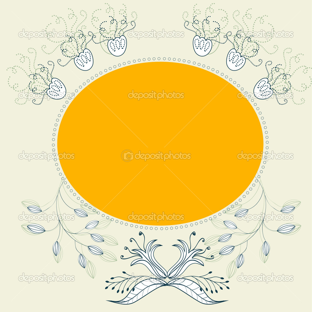 Colorful frame with floral ornament — Stock Vector #2484407