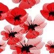 Floral seamless pattern with poppy — Imagen vectorial